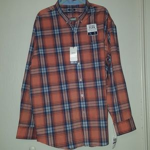Men's orange IZOD button down shirt